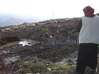 Kağızman'daki heyelandan 80'e yakın ev etkilendi.9684