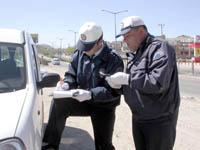 Erzurum'da trafik polisine güneş gözlüğü yasağı.29236