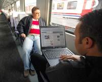 İnternet trene bindi.6736