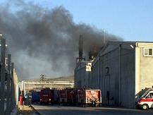 İzmir'de fabrikada yangın.17132