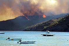 Datça'daki orman yangını sürüyor.7295