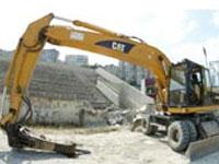 Hazine arazisi üzerine yapılan binalar yıkıldı.9486
