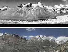 Fotoğraflar Everest'in eridiğini gösteriyor.11713