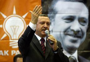 Erdoğan, AKP'nin yeni genel merkezini gezdi.11023