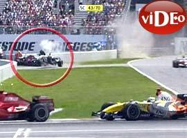 Formula 1 de ak�l almaz kaza.13931