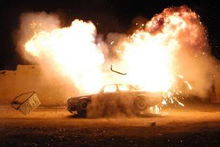 CHP'li eski vekilin oğlunun arabasında bomba patladı.11188