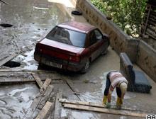 Ankara'da şiddetli yağış etkili oldu.15395