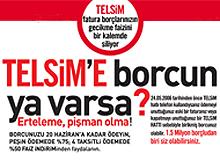 Telsim'e 20 milyon YTL borç ödendi.35700