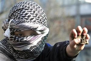 Terör örgütü PKK Tunceli'de yol kesti, propoganda yaptı.15457
