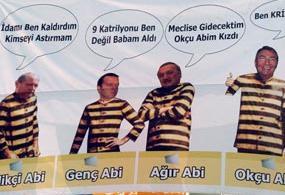 AKP mitinginde asılan afişler dikkatleri çekti.15767