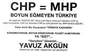 CHP eşittir MHP .24592