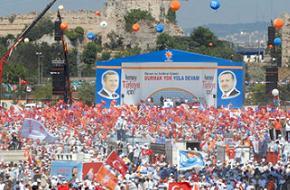 AK Parti'nin Kazl��e�me mitingine 850 bin ki�i kat�ld�.19409
