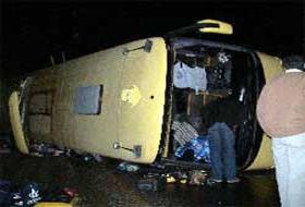 Karabük'te otobüs devrildi.32550