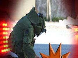 Tunceli'de yola döşeli patlayıcı bulundu .11305