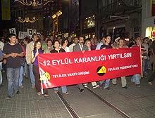 12 Eylül darbesi protesto edildi.13137