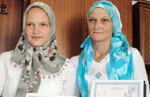 Alman anne ile k�z�, Ramazan'da Hakk yolunu buldu.11883