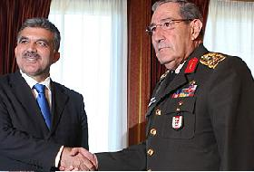 Gül, Büyükanıt'ı Köşk'te kabul etti .11883