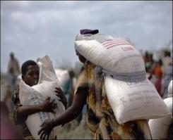Somali'de yiyecek yardımı durdu .9175