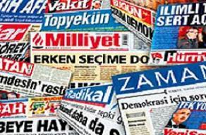 Gazeteler bug�n man�etlerine hangi haberleri ta��d�?.22690