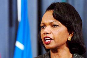 Condoleezza Rice'ın eli kolu bağlı.9515