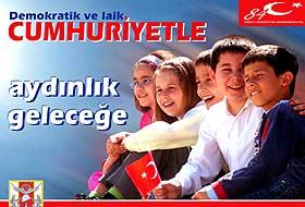 TSK, Cumhuriyet Bayram� dolay�s�yla �� ayr� afi� haz�rlatt�.15486