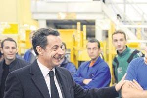 Sarkozy'nin temsilcisi Rum Kesimi'nde.12173