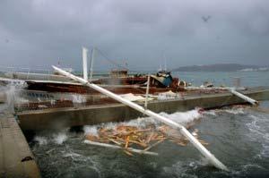 Kuşadası'ndaki fırtına hayatı olumsuz etkiledi....9881