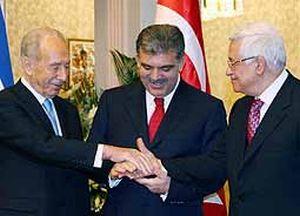 Gül ile Filistin liderleri Ankara Forumu'nda barışa imza attı.14826