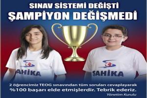 TEOG sınavında 2 öğrenci 700 tam puan alarak Türkiye birincisi oldu.15896