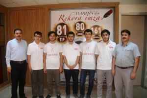 Mardin'de ilk üç, FEM ve Atak Koleji'nden.12253