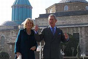 Charles ve eşi Cornwall Düşesi Camilla Konya'da.14389