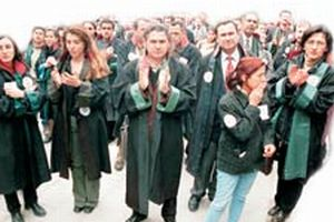Avukat, hakim ve savcılardan Ankara'da protesto eylemi.15982