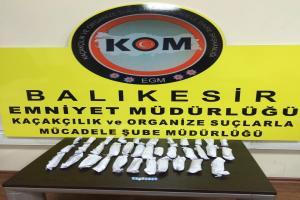 Polis, Balıkesir ve ilçelerinde uyuşturucu operasyonu yaptı.15321