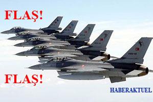 Savaş uçakları kara harekâtına destek veriyor.48140