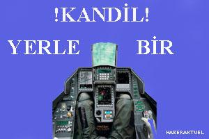 Kandil Dağı'ndaki PKK hedefleri yerle bir edildi.45025