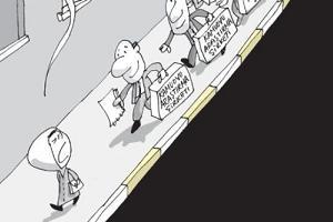 Salih Memecan yine karikatürü