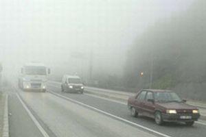 Konya'da sis ula��m� olumsuz etkiliyor.5860