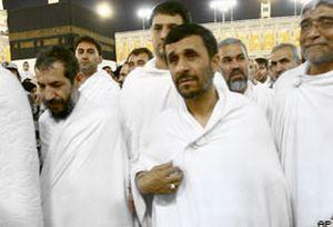 İran cumhurbaşkanı Ahmedinecad hacı oldu.12091