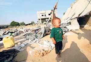 Gazze'ye bomba ya�d�ran �srail 7'si �ocuk 20 Filistinliyi katletti  .17791