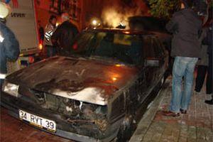 İstanbul'da 9 araç daha kundaklandı.13449