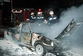 İstanbul Halkalı'da 7 araç dün gece yakıldı.66775