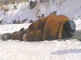 Sibirya soğuklarında 1 kişi donarak öldü.11756
