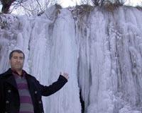 Girlevik Şelalesi buz tuttu.9065