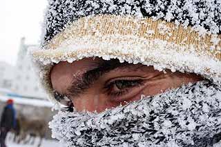 Soğuk hava kaş, göz, baş ağarttı.17934