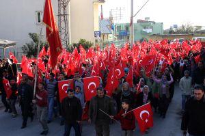 Mersin'de cinayete tepki yürüyüşü.34719