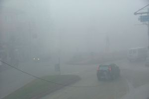 Edirne'de yoğun sis trafiği etkiliyor.9866