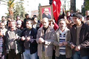 Adana'da seyyar satıcıların eylemi.42182