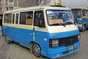 Kayseri'de yolcu minibüsleri tarih oluyor.31910
