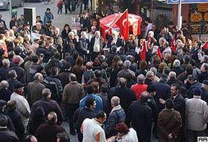 Altın arama çalışmalarına protesto.23496