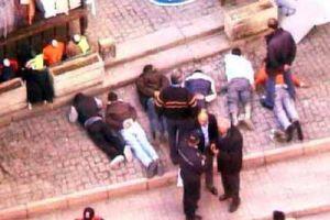 Adana'da zanlılar, saatlerce yerde yatırıldı.15686